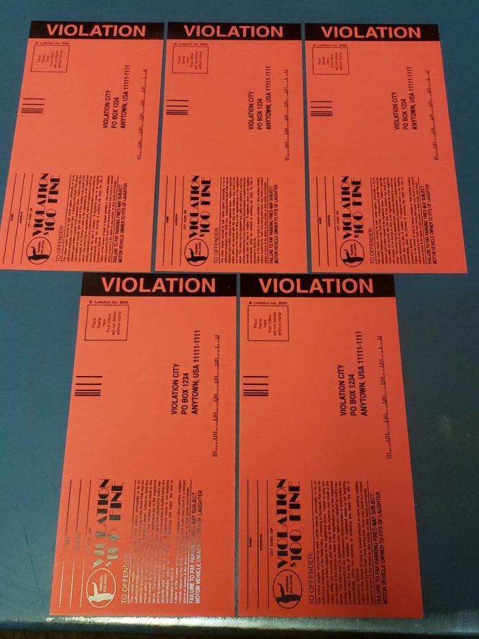 fake parking tickets